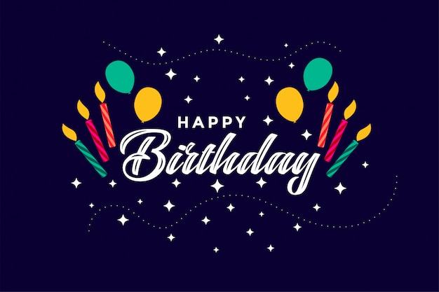 Fondo di celebrazione di buon compleanno stile piano