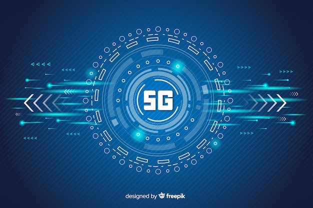 Fondo di concetto 5g futuristico