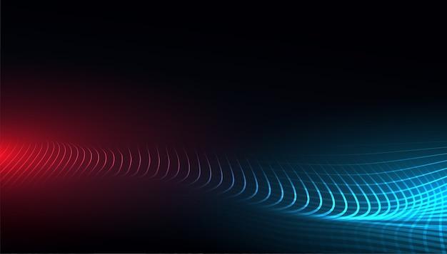 Fondo di concetto dell'onda della maglia di tecnologia digitale
