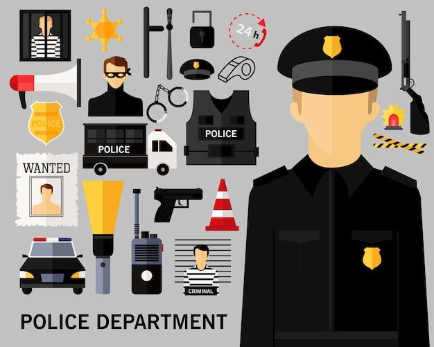 Fondo di concetto di dipartimento di polizia.