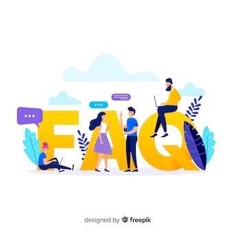 Fondo di concetto di faq piatto