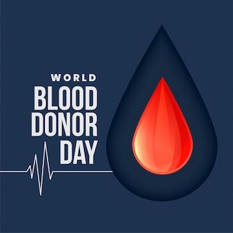 Fondo di concetto di giorno di donatore di sangue del mondo