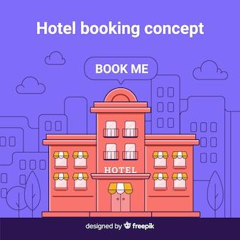 Fondo di concetto di prenotazione dell'hotel