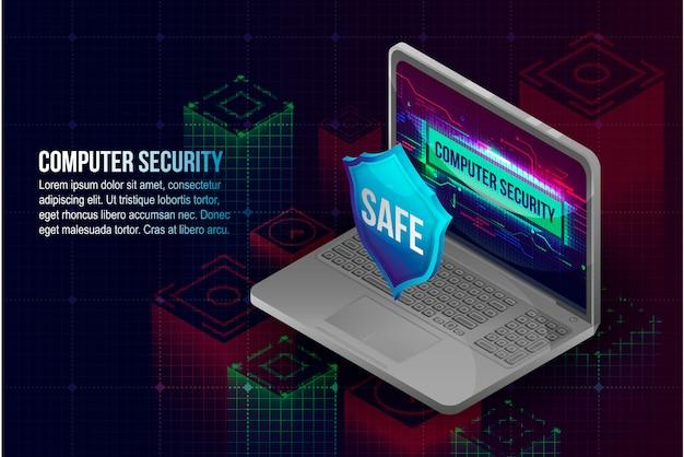 Fondo di concetto di sicurezza del computer