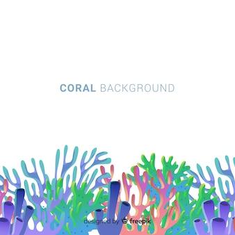 Fondo di corallo colorato disegnato a mano