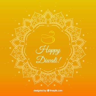 Fondo di diwali disegnato a mano variopinto