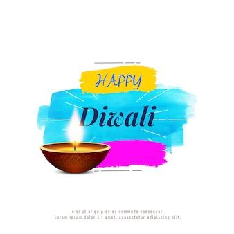 Fondo di diwali felice religioso alla moda astratto