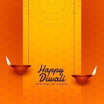 Fondo di diya di celebrazione di festival di diwali