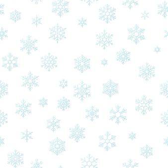Fondo di effetto della decorazione di festa di buon natale. seamless pattern fiocco di neve blu.