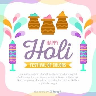 Fondo di festival di holi di colore pastello