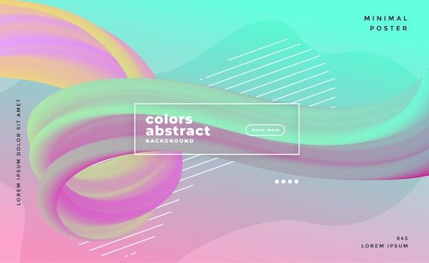 Fondo di flusso del liquido dell'onda astratta di colori pastelli