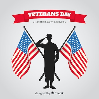 Fondo di giornata dei veterani con noi bandiera