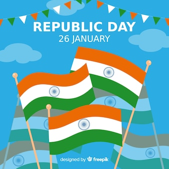 Fondo di giorno della repubblica indiana piatto