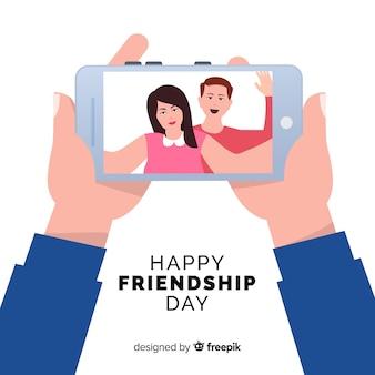Fondo di giorno di amicizia design piatto