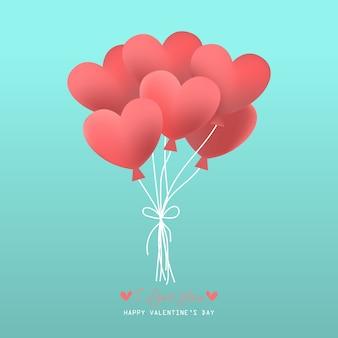 Fondo di giorno di biglietti di s. valentino con il modello del cuore