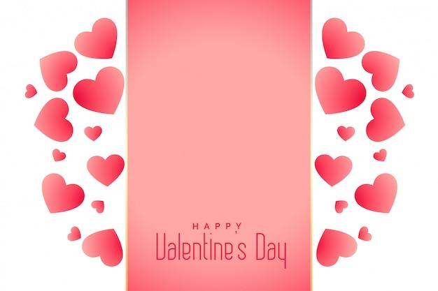 Fondo di giorno di biglietti di s. valentino dei bei cuori con lo spazio del testo