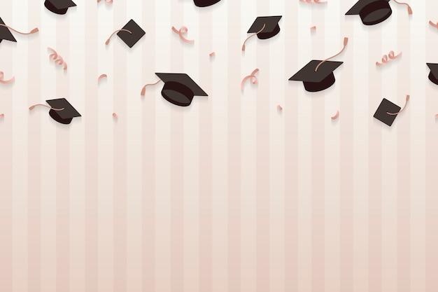 Fondo di graduazione con il vettore dei bordi del mortaio