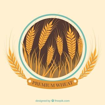 Fondo di grano piatto