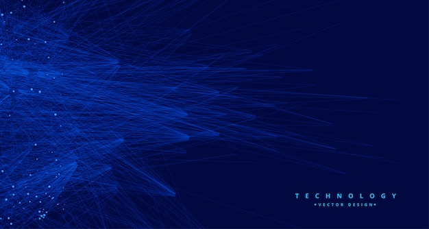 Fondo di ia di grande dati di tachnology blu astratto