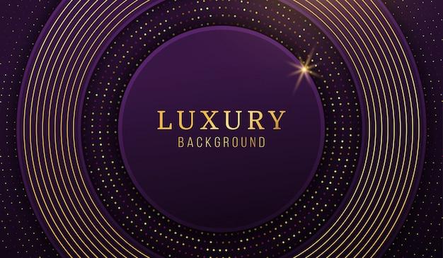 Fondo di lusso moderno del cerchio dell'oro, elementi astratti di progettazione