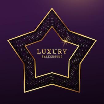 Fondo di lusso moderno della stella d'oro, elementi astratti di progettazione