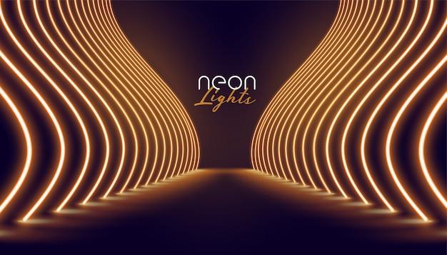 Fondo di modo dell'entrata delle luci al neon di vip