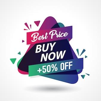 Fondo di progettazione del modello dell'insegna di vendita