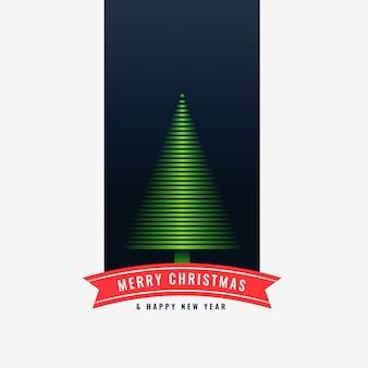 Fondo di progettazione dell'albero verde di buon natale
