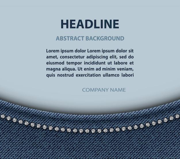 Fondo di progettazione dell'arco dei jeans con il modello del testo