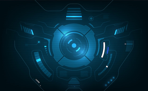 Fondo di progettazione dell'innovazione di concetto dello schermo grafico del sistema aereo dell'interfaccia di hud