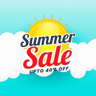 Fondo di progettazione dell'insegna di vendita di estate