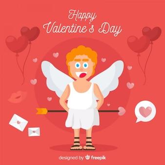 Fondo di san valentino angelo piatto