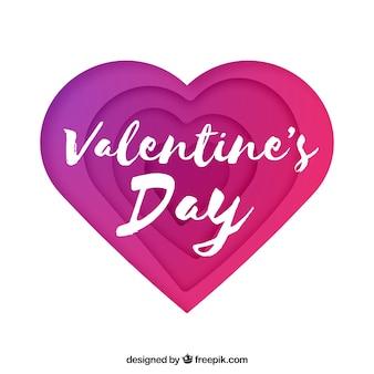 Fondo di san valentino con cuore di carta
