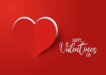 Fondo di San Valentino con cuore tagliato