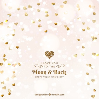 Fondo di san valentino d'oro