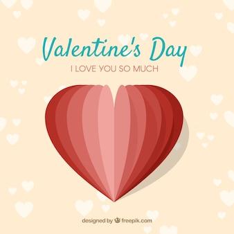 Fondo di san valentino piatto con forma di cuore