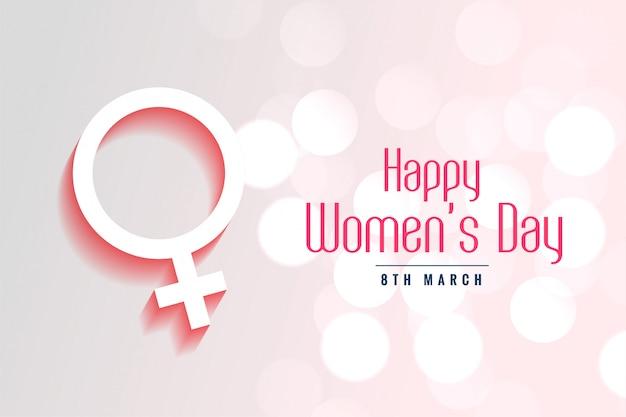 Fondo di stile del bokeh del giorno delle donne felici