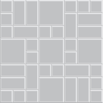 Fondo di struttura della pavimentazione di pietra del mattone 3d, modello grigio dell'illustrazione di vettore senza cuciture