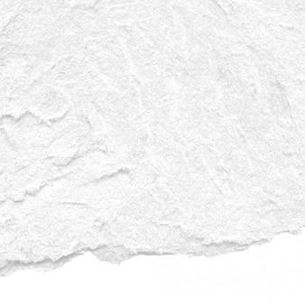 Fondo di struttura di carta lacerato ruvido bianco