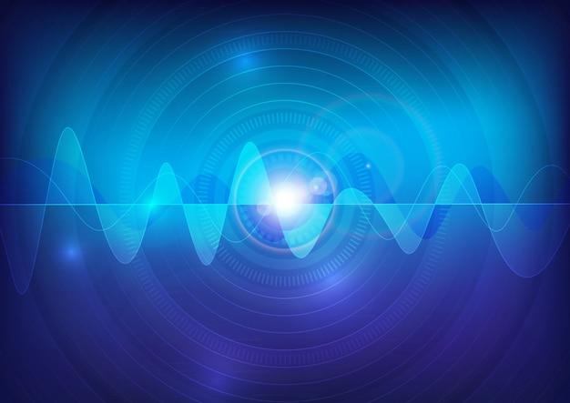 Fondo di tecnologia dell'estratto di impulso di vettore del suono di wave