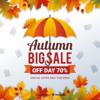 Fondo di vendita autunno design piatto