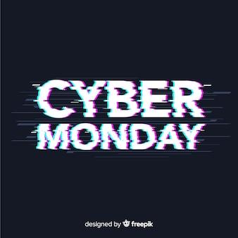 Fondo di vendita di cyber lunedì con effetto di glitch
