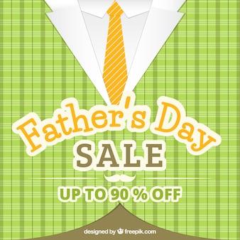 Fondo di vendita di festa del papà con il modello