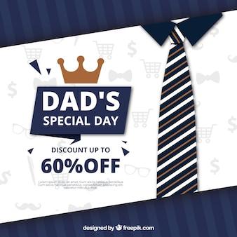 Fondo di vendita di giorno di padri con cravatta