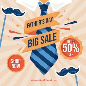 Fondo di vendita di giorno di padri