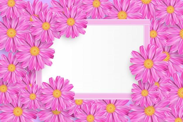 Fondo di vendita di primavera con bel fiore colorato.