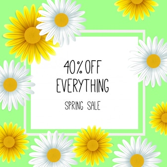 Fondo di vendita di primavera con bel fiore