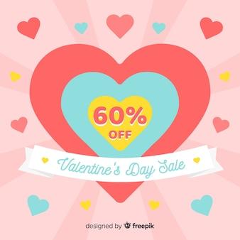 Fondo di vendita di san valentino dello sprazzo di sole
