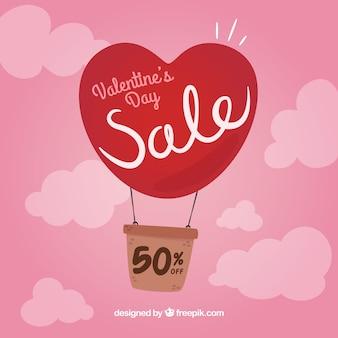 Fondo di vendita di san valentino disegnato a mano