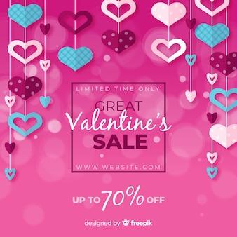 Fondo di vendita di San Valentino ghirlanda di cuore
